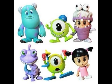 Monsters, Inc  Hot Toys 3 Inch Mini Cosbaby Set of 6 Figures