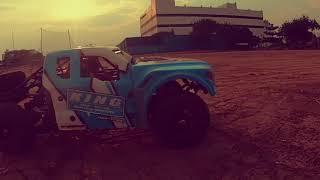 Losi BAJA REY Ford Raptor RC Trophy Truck — EASTER BASH and FPV field run GoPro Hero7