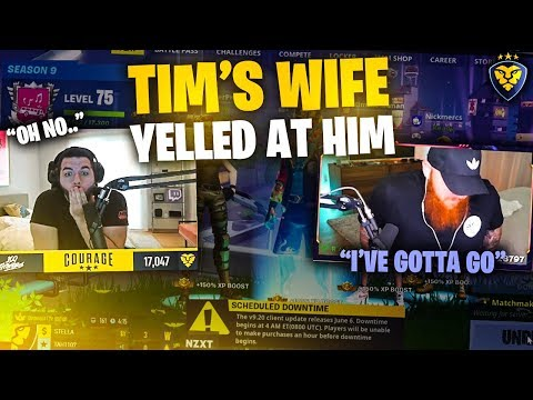 TIM'S WIFE YELLED AT HIM! HE SHUT HIS STREAM OFF! (Fortnite: Battle Royale)