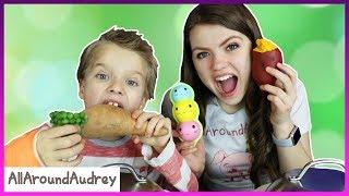 Squishies Vs Real Food Switch Up Challenge / AllAroundAudrey