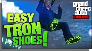 GTA Online: TRON SHOES Glitch In 3 Easy Steps! Solo Modded Outfit