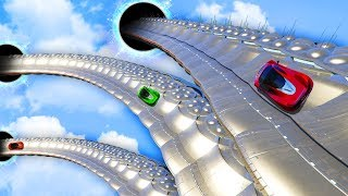 RACING UFO WALLRIDE TO SPACE! (GTA 5 Funny Moments)