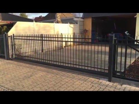 Vorstellung: Zaun aus Polen mit freitragendem Schiebetor (elektrisch)