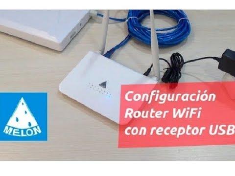 Configuración Router WiFi MELON R658 con antena WiFi USB N519