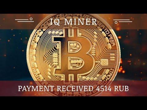 IQ Miner (IQMiner.com) отзывы 2019, обзор, платит, Получил прибыль 4514 RUB + BOUNTY