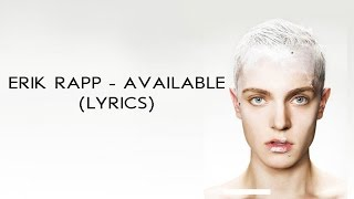 Erik Rapp - Available (Lyrics)