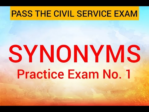 Civil Service Exam Reviewer - Synonyms (Practice Exam No. 1 ...