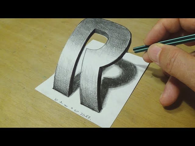 How-to-draw-3d-letter