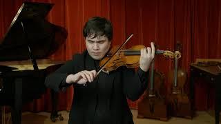 Luiz Amorim violin, Cremona 2020