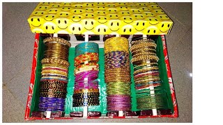 DIY: How to make Bangle Organizer from Waste Box