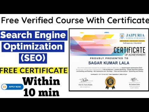SEO Free Certification Course || Search Engine Optimization ...