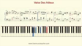 "How To Play Piano: Richard Clayderman ""Valse Des Adieux"" Piano Tutorial by Ramin Yousefi"