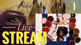 LIVESTREAM  - Skin Tones With PanPastels & Pastels | Part 1