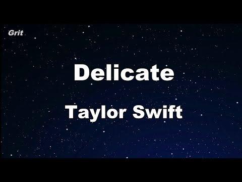 Delicate - Taylor Swift Karaoke 【No Guide Melody】 Instrumental
