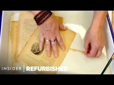 100-Year-Old Book gets a Professional Restoration