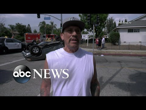 Actor Danny Trejo saves baby trapped in car l ABC News