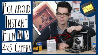 Using Polaroid 600 Film in a 4x5 Camera   MAKING AN INTEGRAL FILM BACK