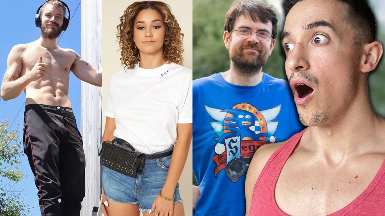 Transformations incroyables de youtubeur ! (Pewdiepie, Lena situation, joueur du grenier...)