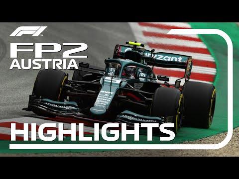 F1第9戦オーストリアGPのFP2ハイライト動画