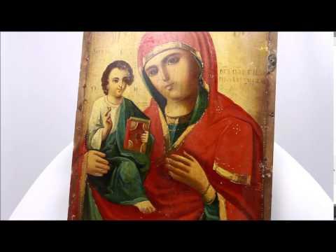 Икона старинная Богородица Праворучица. DR0298