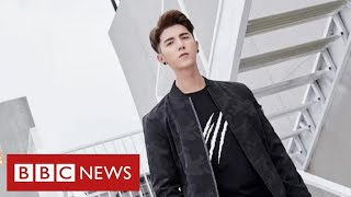 """Rare footage of former model held for """"re-education"""" in China's detention system - BBC News"""