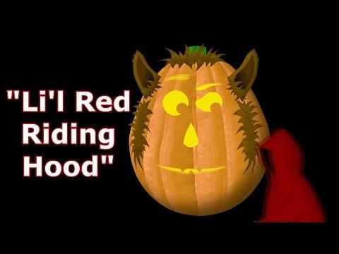 , title : 'Li'l Red Riding Hood - Singing Pumpkins Halloween light show 2011