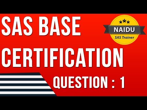 BASE SAS Certification - Question 1 - YouTube