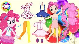 Paper Doll MY Little Pony Pinkie Pie Dress Up And Make Up Like Garden Party Homemade Papercraft