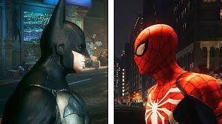Spider-Man PS4 vs Batman Arkham Knight | Graphics Comparison | Comparativa