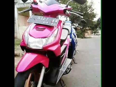Modifikasi Motor Beat Karbu Warna Pink Zona Ilmu 8