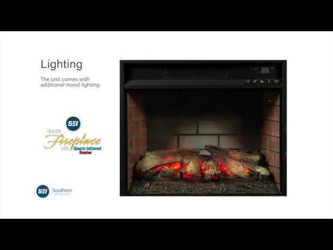 FI9668: Lowery Infrared Electric Fireplace - Espresso