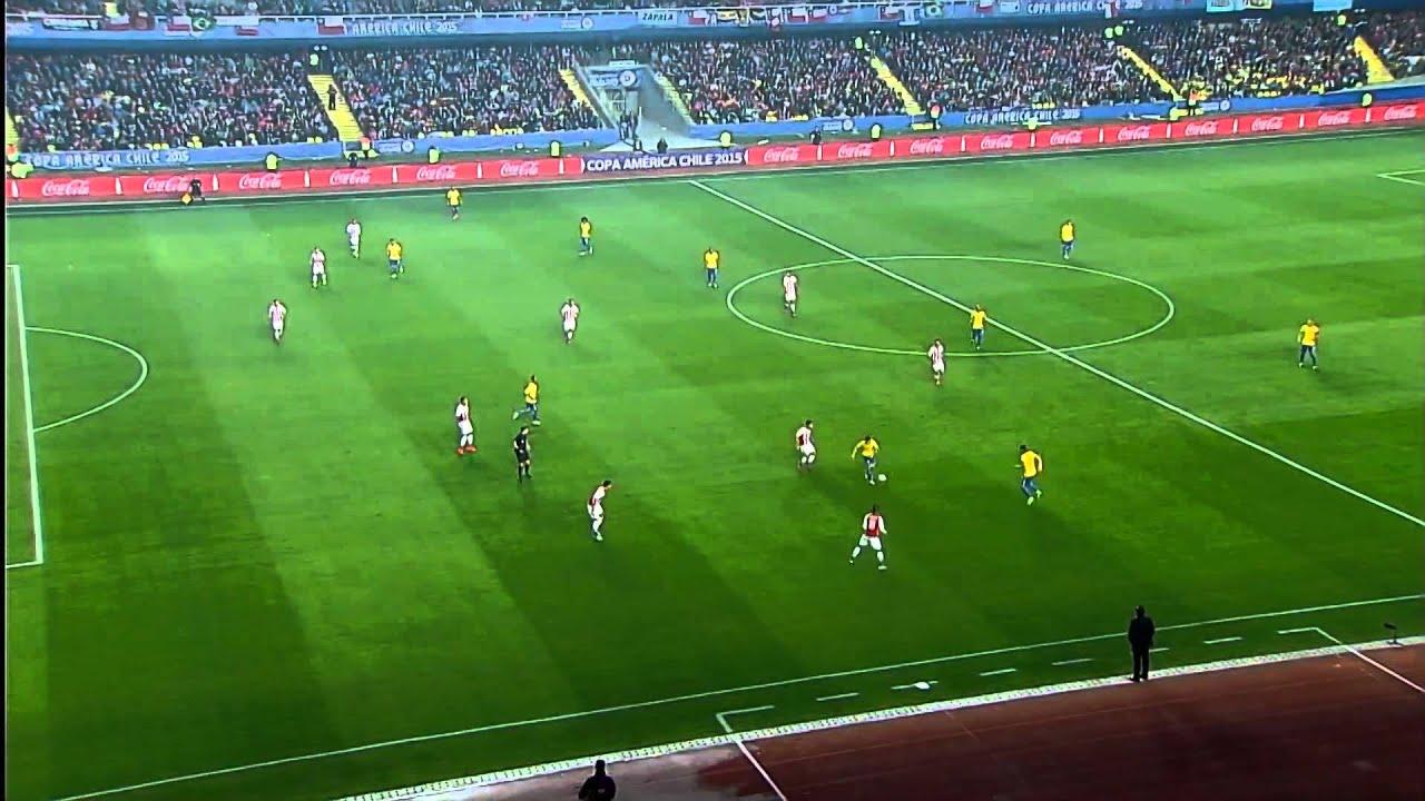 Copa América 2015: Goles: Brasil Vs Paraguay: Robinho abre el marcador para Brasil