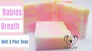 Melt and Pour Soap Tutorial Making Babies Breath Melt and Pour Soap with Cricut Cuttlebug