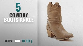 Top 5 Cowboy Boots Ankle [2018]: Charles Albert Womens Modern Western Cowboy Distressed Boot With