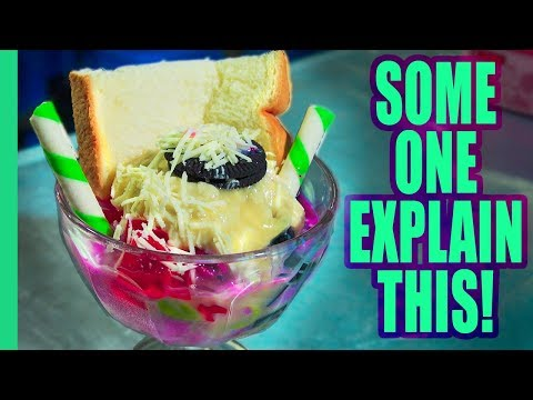 STRANGE Desserts and Exotic Fruits in Jakarta, Indonesia! What is going on here??