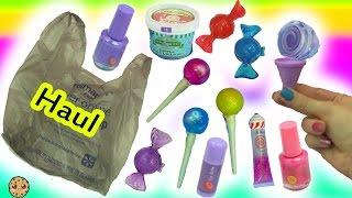 Walmart Candy Shop Cosmetic Makeup Haul - Lollipop Lipgloss, Ice Cream Nail Polish + More