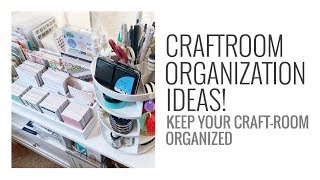 Craft Room Organization Ideas 2020 | Embellishments, Paper Pads & Much More