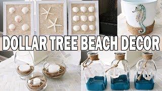 Dollar Tree DIY Coastal Beach Decor 🌊 Nautical Decor