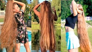 Girls With Longest Hair In The World 😱 Best Real Life Rapunzels | Extremely Long Hair