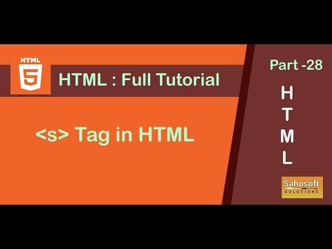 strikethrough tag  in HTML  : Part 28 HTML Full Tutorial