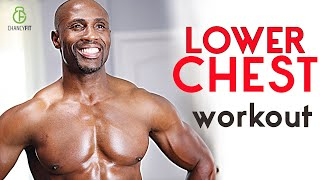 THE BEST CHEST WORKOUT FOR LOWER CHEST AT HOME