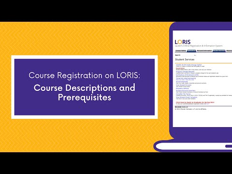 Course Descriptions and Prerequisites - YouTube