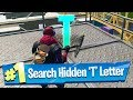 Search hidden 'T' found in the Dockyard Deal Loading Screen - Fortnite Battle Royale