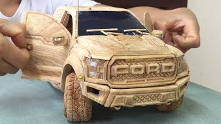 Wood Carving - Ford F150 RAPTOR 2020 - Woodworking Art