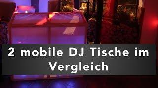 2 mobile DJ Tische im Vergleich