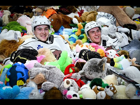 45,650 stuffed animals thrown to the ice during the AHL Hershey Bears' annual Teddy Bear Toss