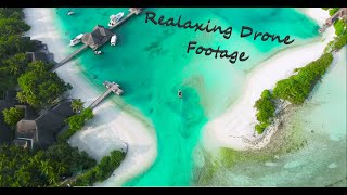 Drone beach footage super relaxing