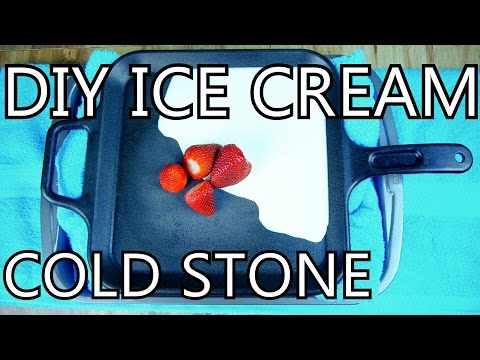 Video How To Make Ice Cream With A Frying Pan [DIY Cold Stone] - NightHawkInLight
