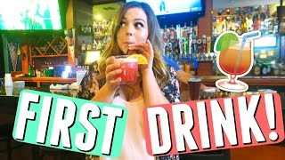 first legal drink!! ordering a drink at midnight on my 21st birthday!