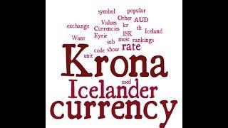 Icelander Currency - Krona
